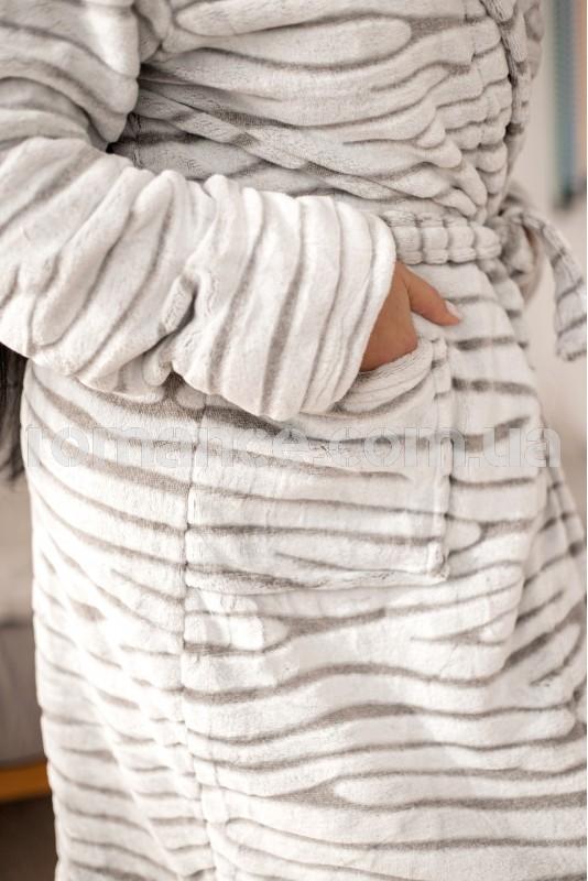 Женский махровый халат белый Woman Romance Style 26788