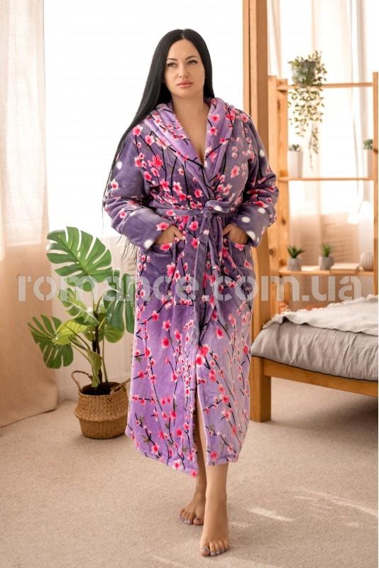 Женский махровый халат сакура Woman Romance Style 26765
