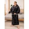 Махровый мужской однотонный халат Man Romance Boss 26813