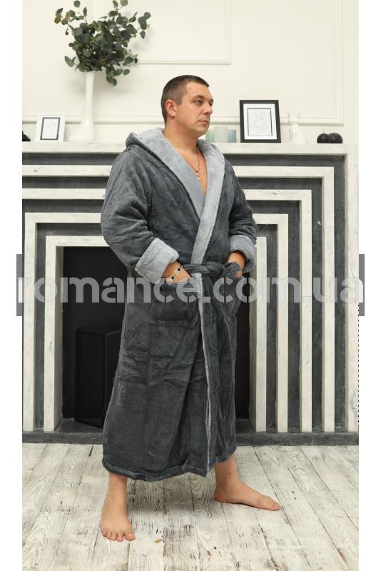 Мужской махровый Silver халат Man Romance Style 2377