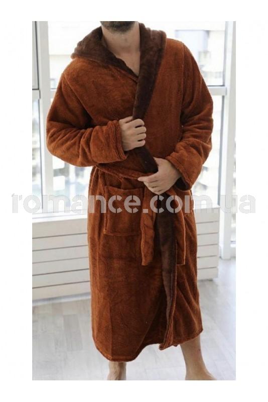 Мужской махровый Brick халат Man Romance Style 2377