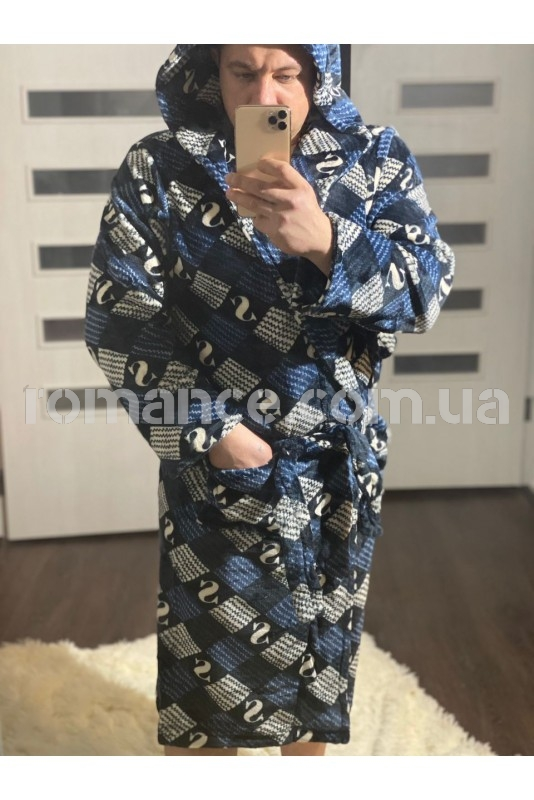 Махровый мужской халат Man Romance Сube 26816