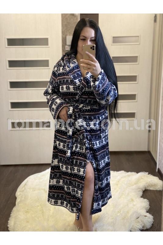 Женский махровый халат Woman Romance Style 2335