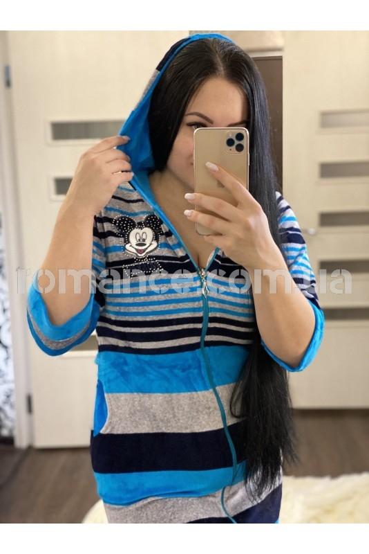 Халат велюровый женский Fashion Romance 5422