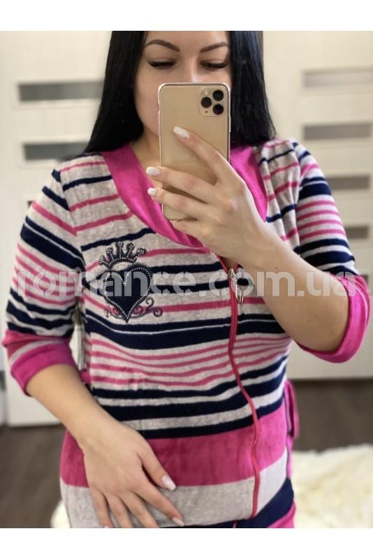 Халат велюровый женский Fashion Romance 5423