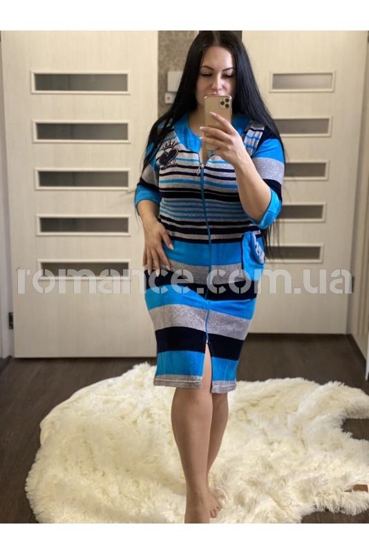 Халат велюровый женский Fashion Romance 5418