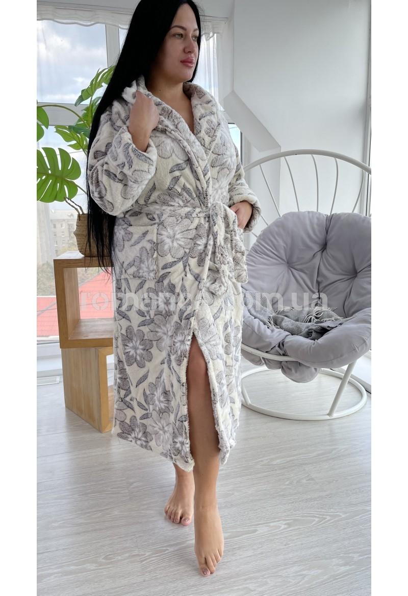 Женский махровый халат Woman Romance Style 2187
