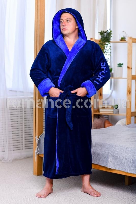 Мужской махровый халат Man Sport Romance Style 2379