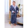 Мужской махровый серый халат Man Romance Style 2371