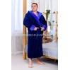Мужской махровый голубой халат Man Romance Style 2371