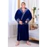 Мужской махровый синий халат Man Romance Style 2371