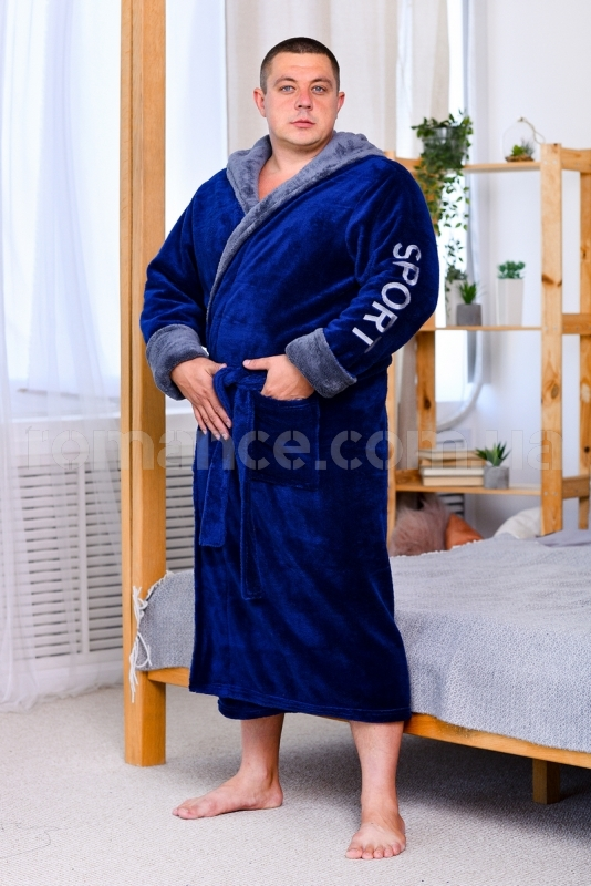 Мужской махровый халат Sport Man Romance Style 2371