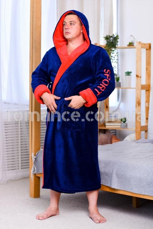 Мужской махровый халат Man Sport Romance Style 2371