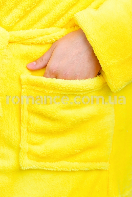 Женский желтый махровый халат Woman Romance Style 2103