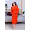 Женский малиновый махровый халат Woman Romance Style 2106