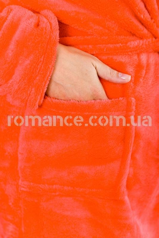 Женский махровый короткий малиновый халат Woman Romance Style 2122
