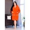 Женский махровый короткий красный халат Woman Romance Style 2123