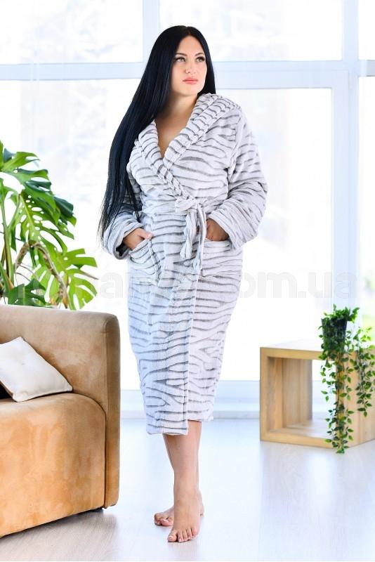 Женский махровый халат(БОЛЬШОГО РАЗМЕРА)Woman Romance Style 2999