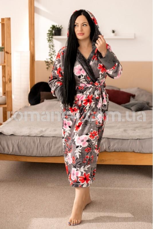 Махровый женский халат Woman Romance Style 2234