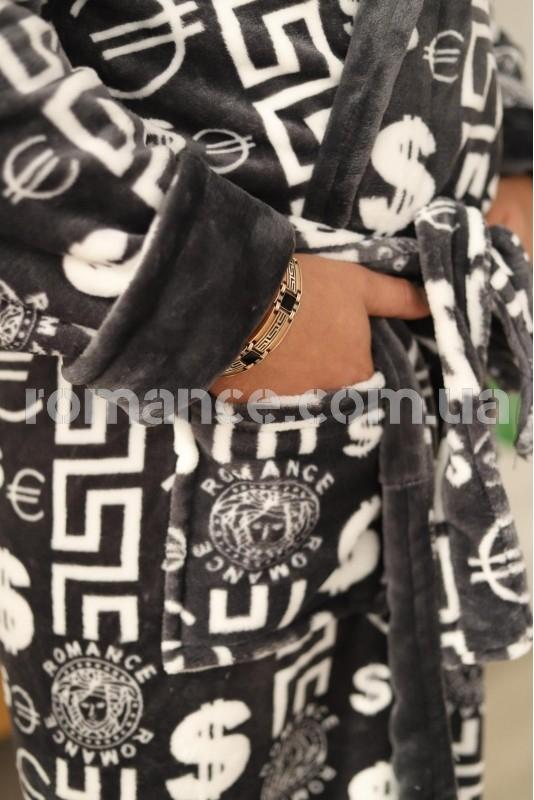 Махровый мужской халат Man Romance Style 23813
