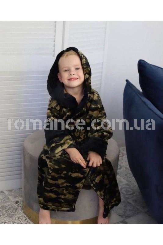 Подростковый махровый халат Хаки Kids Romans 906