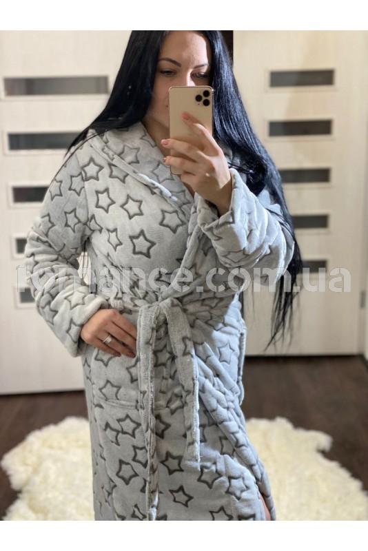Женский махровый халат Woman Romance Style 2989