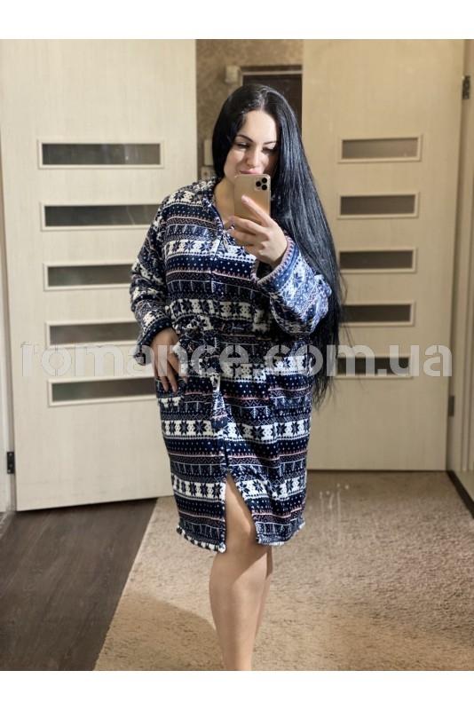 Женский махровый короткий халат Woman Romance Style 2224
